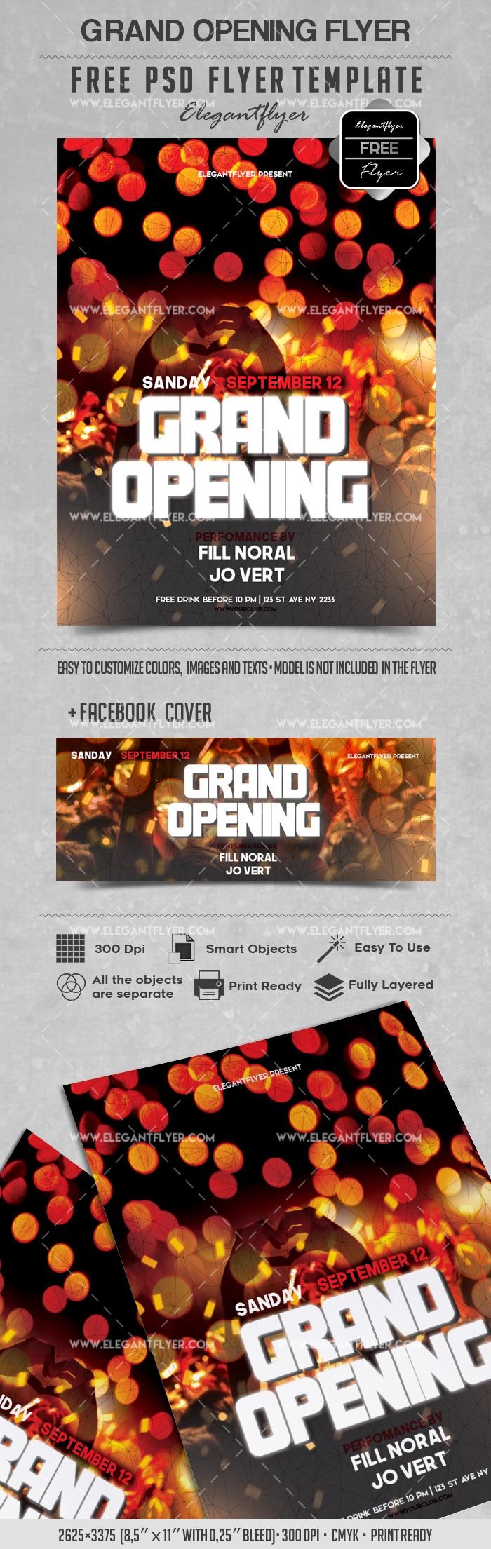 party for grand opening lights template  u2013 by elegantflyer