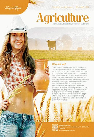 Agriculture Corporate – Flyer PSD Template