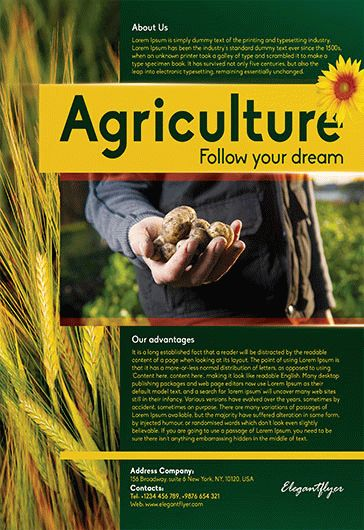 free agriculture corporate flyer templates  u2013 by elegantflyer