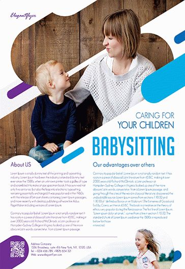Free Babysitting Flyer Template  By Elegantflyer
