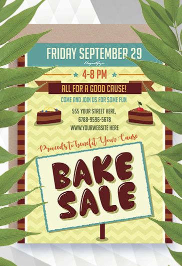Flyer for Bake Sale Bakery