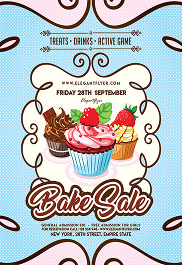 Free Flyer For Bake Sale  By Elegantflyer