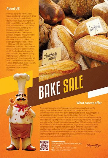 free bake sale flyer template in photoshop  u2013 by elegantflyer
