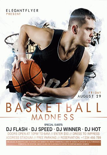 Basketball Tournament – PSD Flyer Template + Facebook Cover + Instagram Post