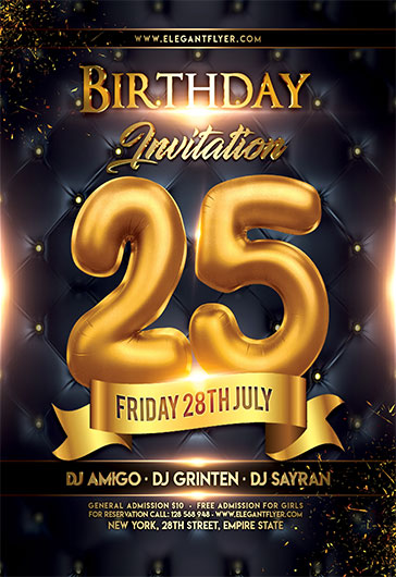 Birthday Invitation V02 Flyer Psd Template By Elegantflyer