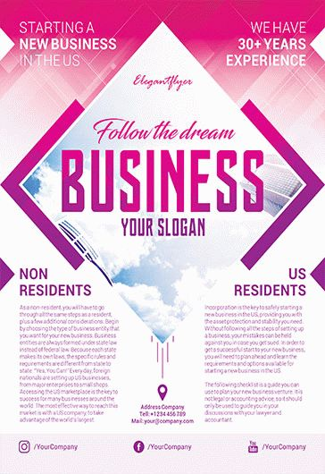 Business Free Flyers Templates In Psd By Elegantflyer