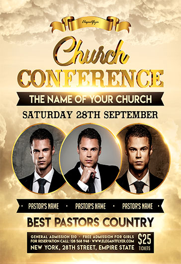 church conference  u2013 flyer psd template  u2013 by elegantflyer