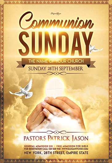 communion sunday flyer psd template by elegantflyer