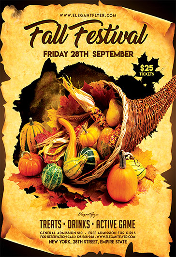 Fall Festival V02 – Flyer PSD Template