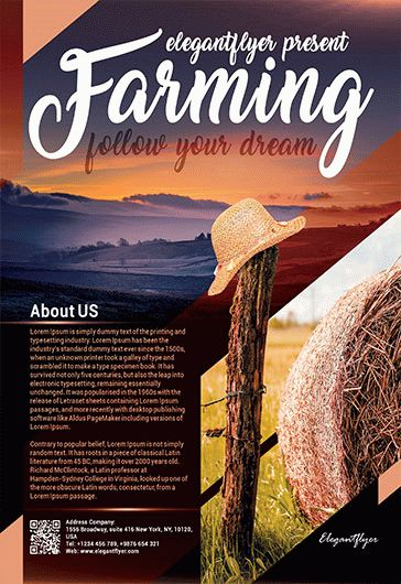 Farming – Flyer PSD Template