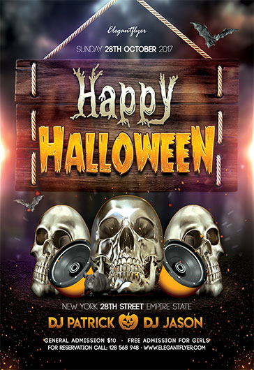 happy halloween flyer template by elegantflyer