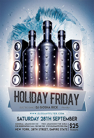 Holiday Friday – Free Flyer PSD Template