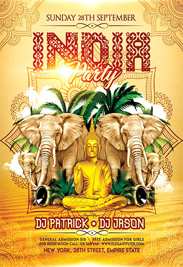 India Party – Flyer PSD Template