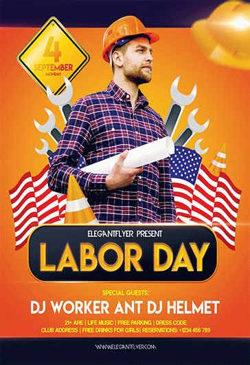Marvelous Free Labor Day Flyer Template