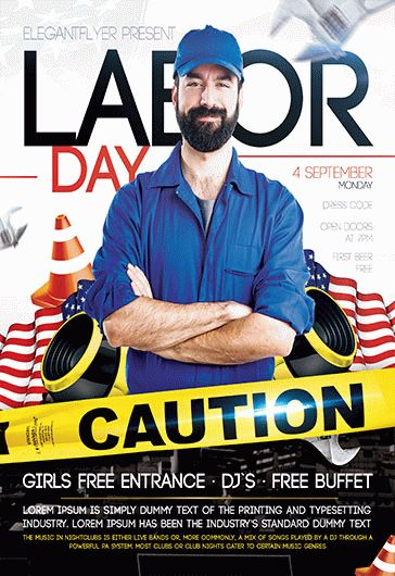 Labor Day Flyer Template  By Elegantflyer