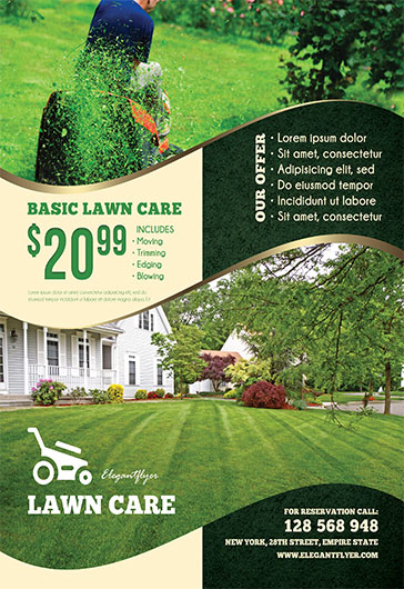 Free Lawn Care Flyers Templates | by ElegantFlyer
