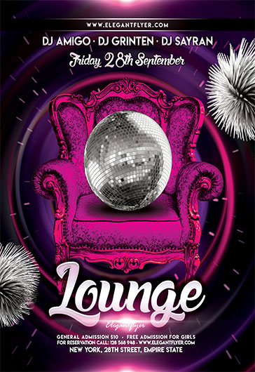 lounge  u2013 free flyer psd template  u2013 by elegantflyer