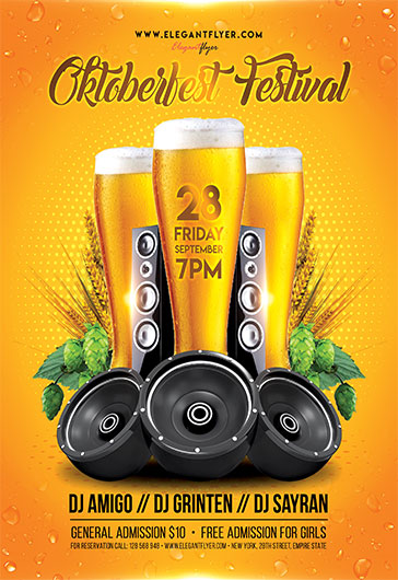Oktoberfest party 2017 – Flyer PSD Template