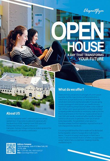 Free Open House Flyer Templates For Photoshop By Elegantflyer