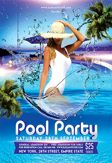 Pool Party V05 – Flyer PSD Template