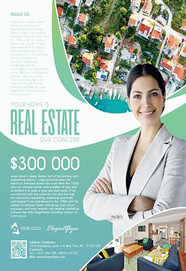 Free Real Estate Trifold Brochure Template in PSD