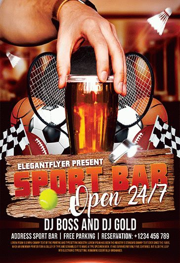 Sports Bar – Flyer PSD Template
