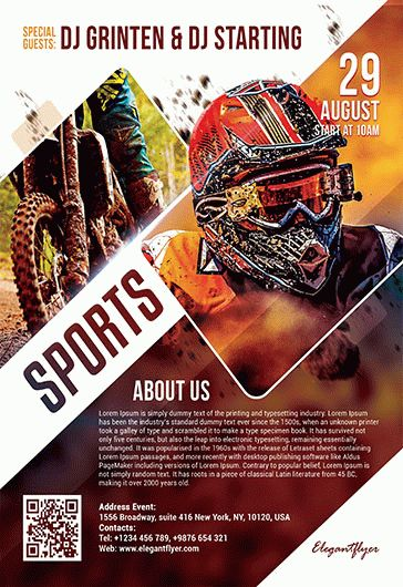 free sports flyer templates in psd by elegantflyer