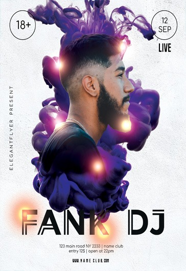 Fank DJ – Flyer PSD Template