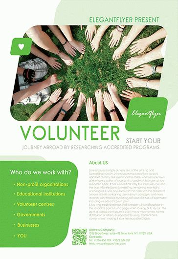 Volunteer Flyer Template Free