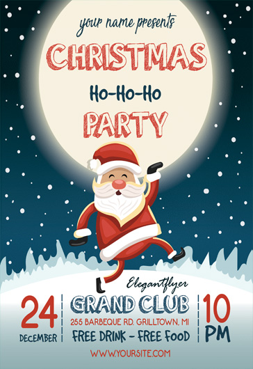 Christmas Party Flyer.Christmas Party Music Flyer