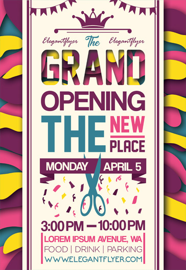 grand opening flyer psd template by elegantflyer