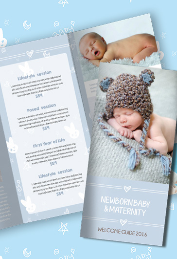 Newborn Photography Ideas PSD Brochure