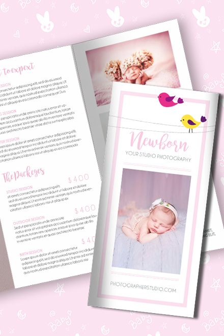 Brochure for Newborn Photo Session