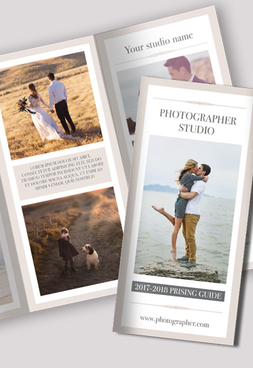 Tri-Fold Brochure Photography Template Free