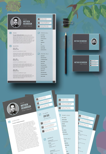 Premium resumes template PSD Download by ElegantFlyer