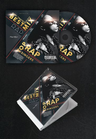 rap best mix  u2013 free cd cover psd template  u2013 by elegantflyer