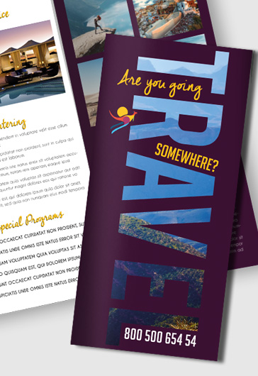 Printable Tri-Fold Brochure Diving Template