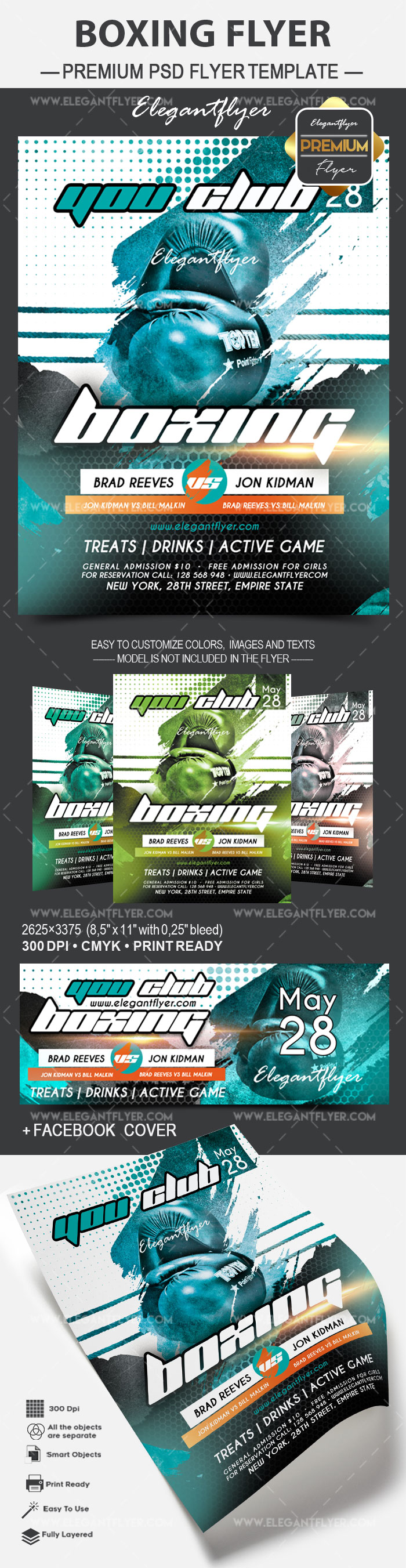 Boxing – Flyer PSD Template