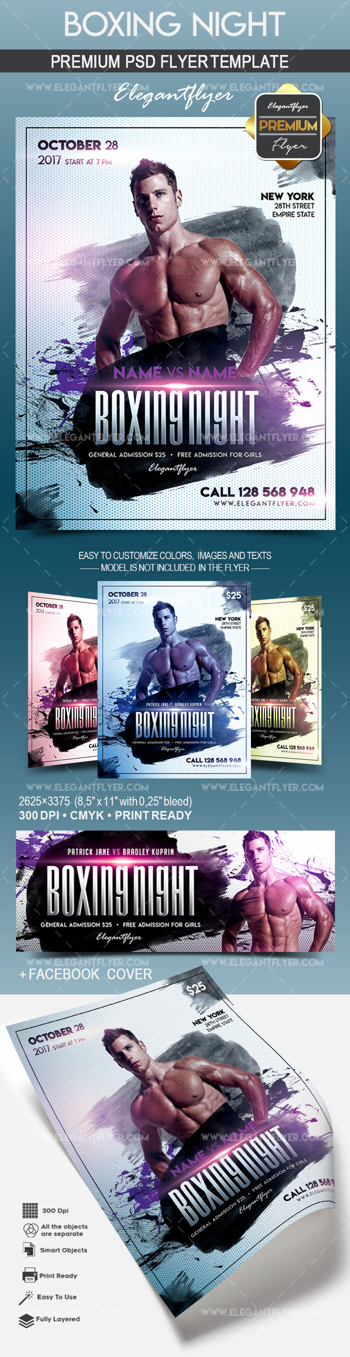 Boxing Night – Flyer PSD Template