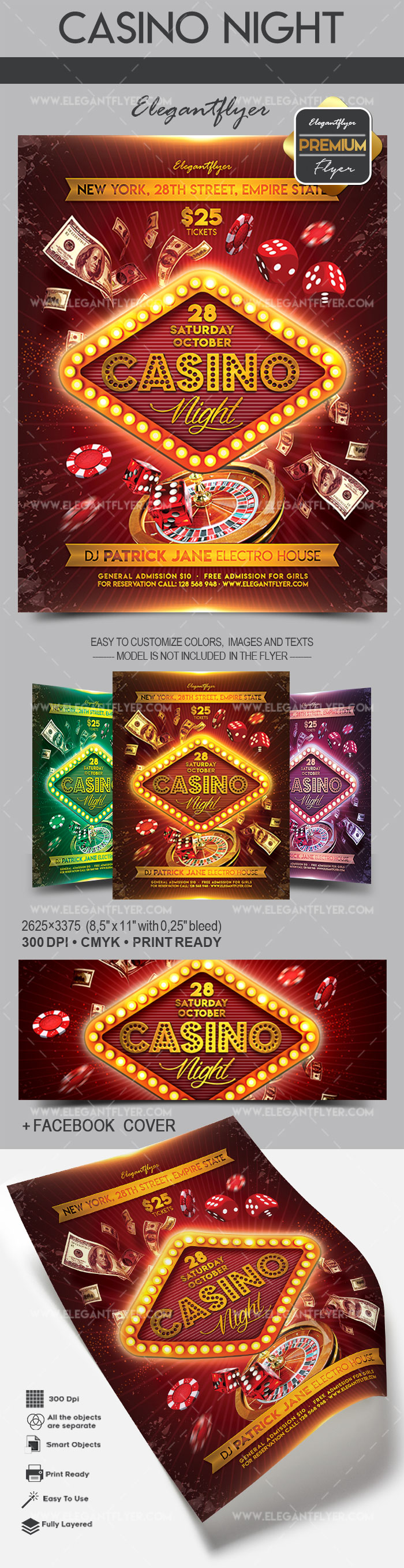 Casino Flyer PSD Template
