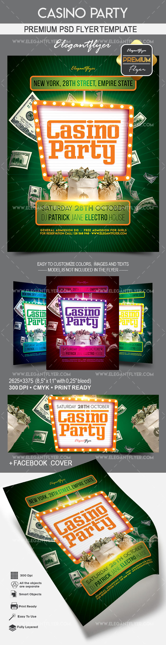 Casino Party – Flyer PSD Template