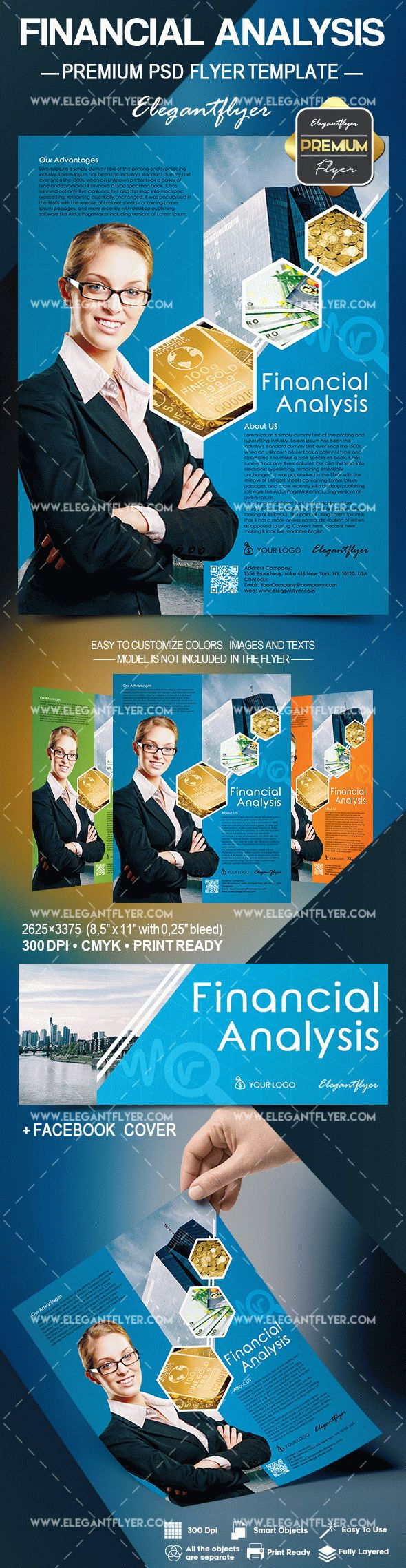 Financial Analysis – Flyer PSD Template