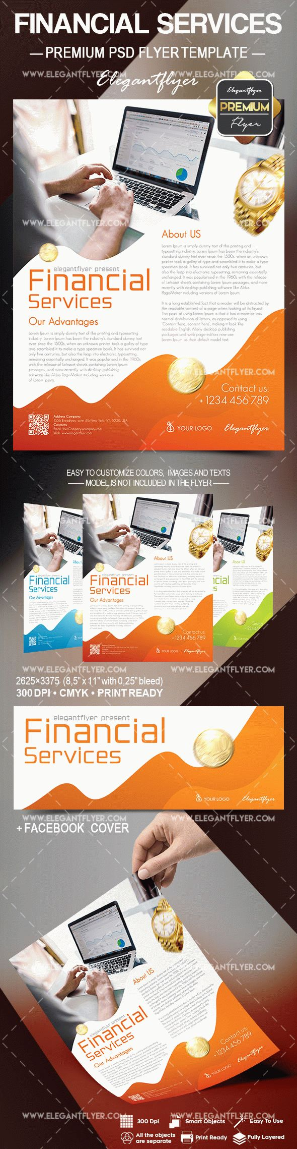 Financial Services – Flyer PSD Template