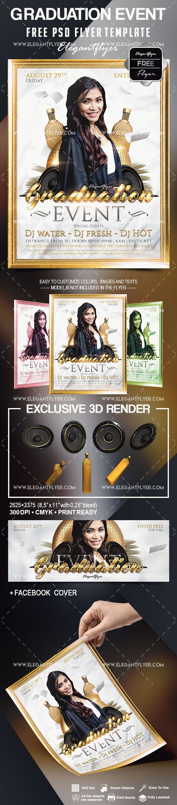 Free graduation event flyer template by elegantflyer free graduation event flyer template pronofoot35fo Gallery