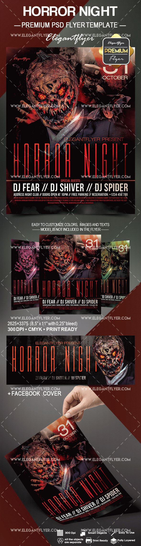 Horror Zombie Night Flyer Template – by ElegantFlyer