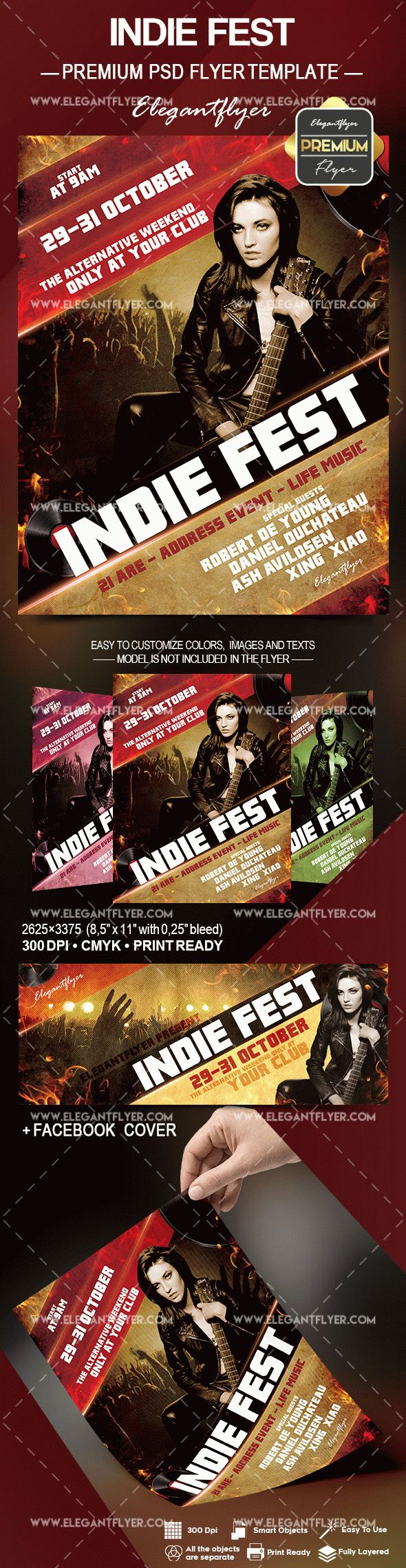 Indie Fest Invitation Flyer