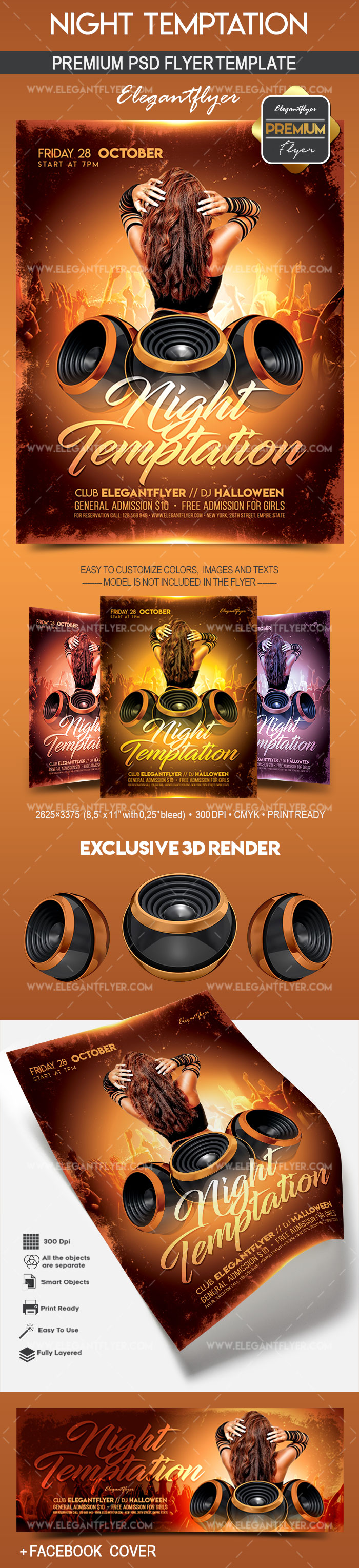 Night Temptation – Flyer PSD Template