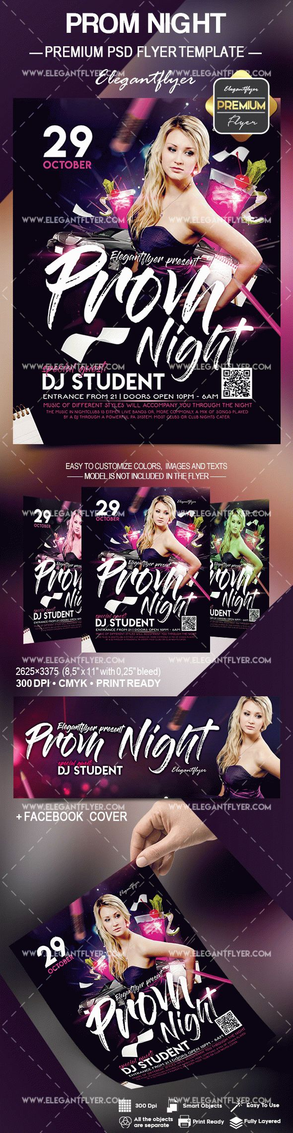 Prom Night – Flyer PSD Template