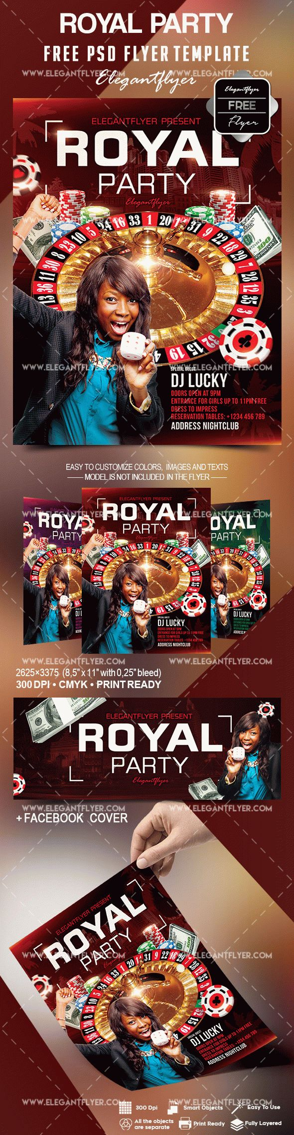 Free Royal Party Flyer Template