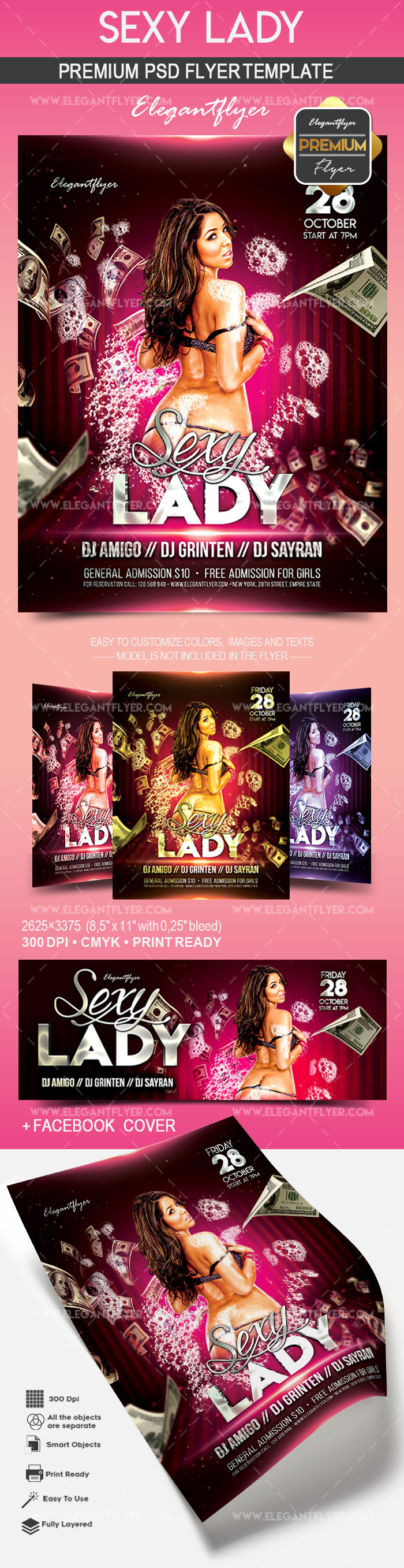 Sexy Lady – Flyer PSD Template